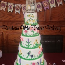 5 tier whimsy floral