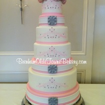 7 tier pink lace