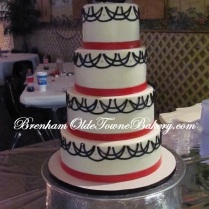 Black Hibiscus Wedding cake