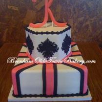 black medallion wedding cake