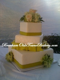 Citrus Green Wedding Cake