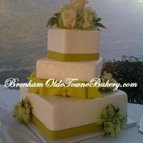 Citrus Green Wedding Cake