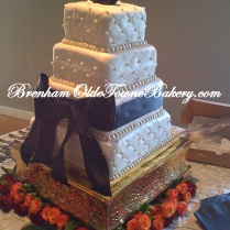 Cream Quilted Wedding Cake