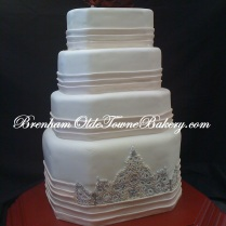 Dress Inspired Wedding Cake