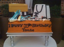 fashion 30th birthday cake