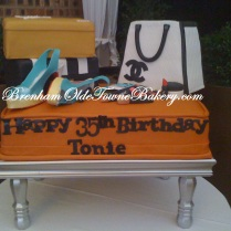 fashion 30th birthday cake