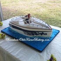Fountain Boat Grooms cake