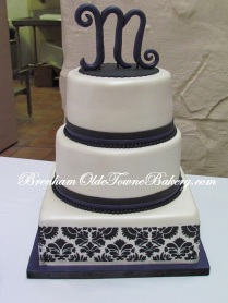 Lapis and Black Wedding cake