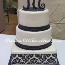 Lapis and Black Wedding cake