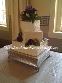 Lapis and Cream Wedding Cake