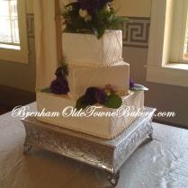 Lapis and Cream Wedding Cake