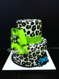lime green leopard