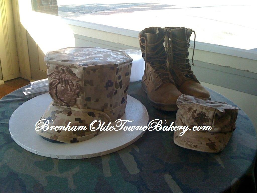 Marine Corps Bonnet Grooms Cake
