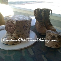 Marine Corps Bonnet Grooms Cake