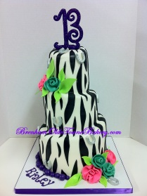 mini tiers zebra birthday