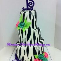 mini tiers zebra birthday