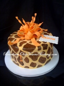 Orange & Giraffe Birthday
