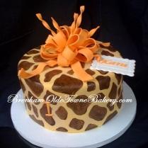 Orange & Giraffe Birthday