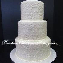 Pearl on Pearl Wedding Cake