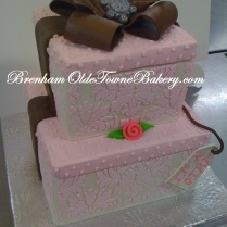 Pink Damask Gifts Baby shower