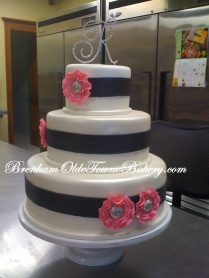 Pink Fantasy Flower Wedding Cake