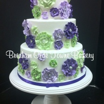 purples and greens fantasy flowers