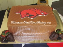 Razorbacks Brooms Cake