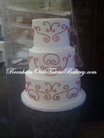 Red Pattern Wedding Cake