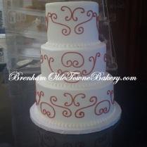 Red Pattern Wedding Cake