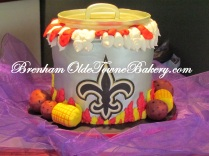 Saints crawfish pot grooms cake