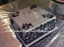Skull Invite Grooms Cake