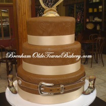 Western Belt Wedding cake