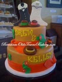Western Rehersal Dinner Cake