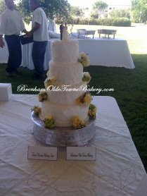 White Texture Wedding Cake