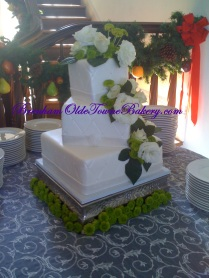 Wild Rose Wedding Cake