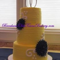 Yellow and Navy Wedding Cake