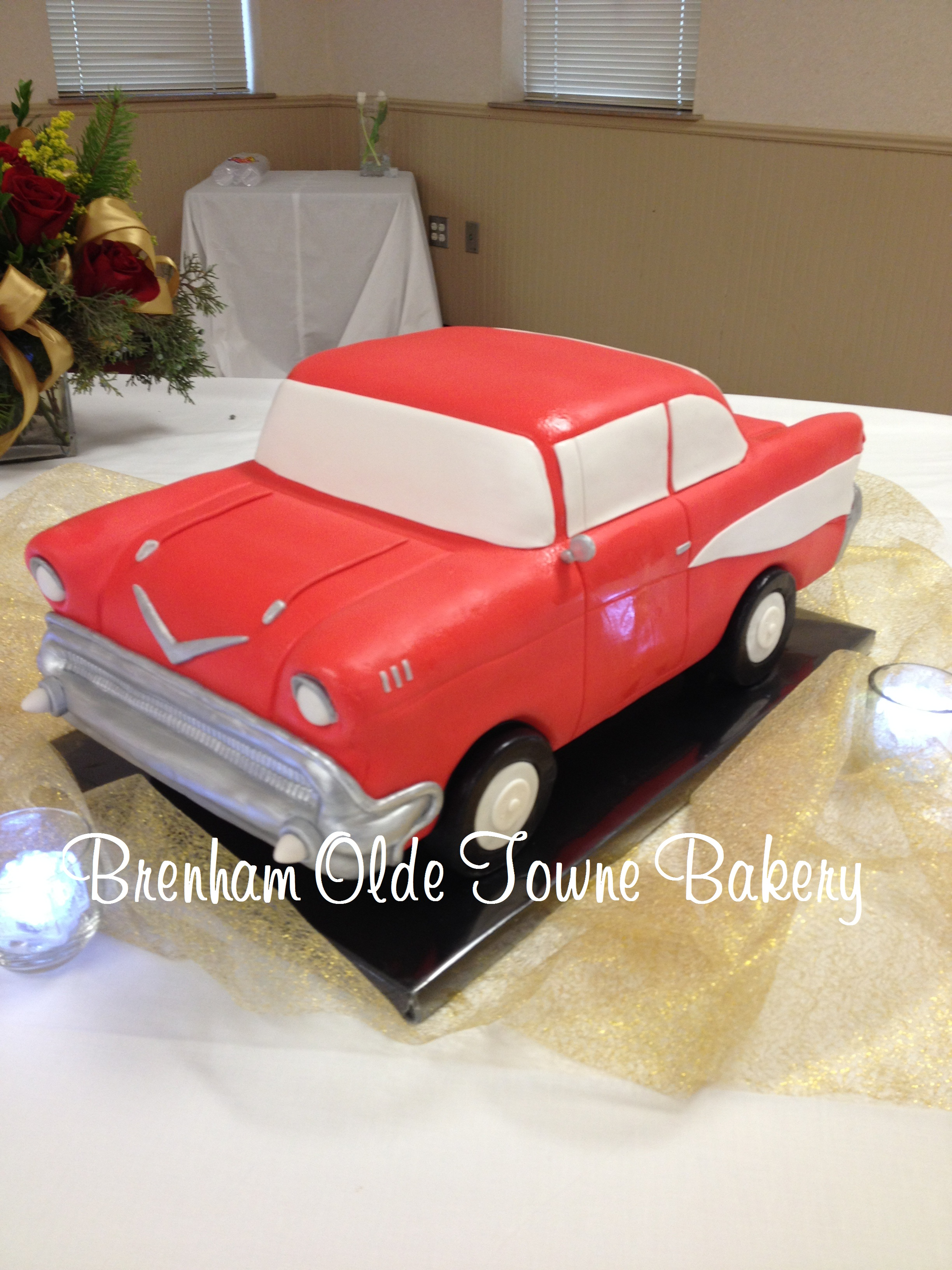 1956 classic chevy bel air car Brenham Olde Towne Bakery