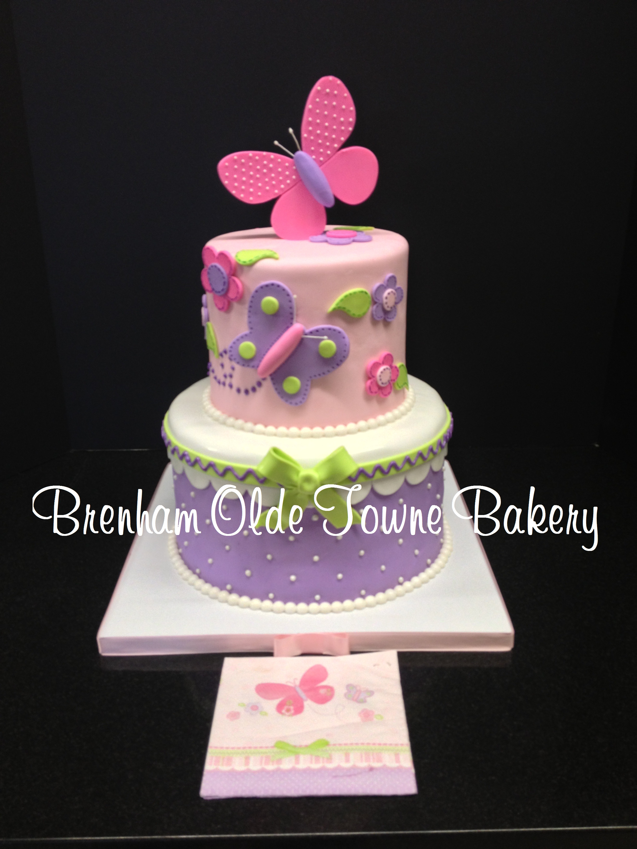 Butterfly Baby Shower Cake Images : Butterfly themed baby shower cake