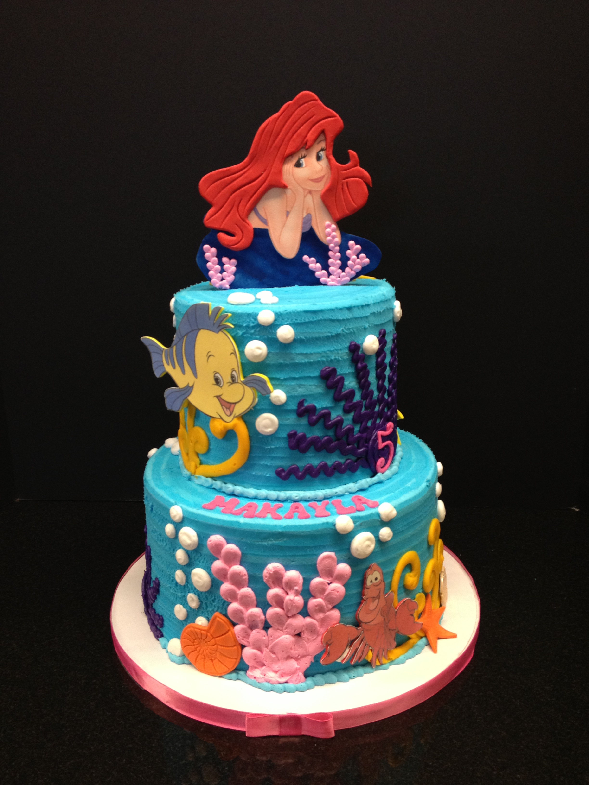 birthday cakes little mermaid