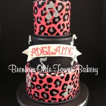 pink, black and glitter leopard print baby shower