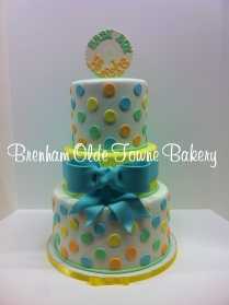 polka dots and bow baby shower